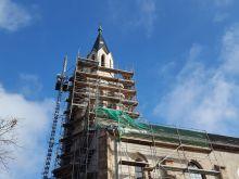 Denkmalgeschützte Sanierung Kirchturm