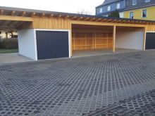 Errichtung Carport mit Fertiggaragen